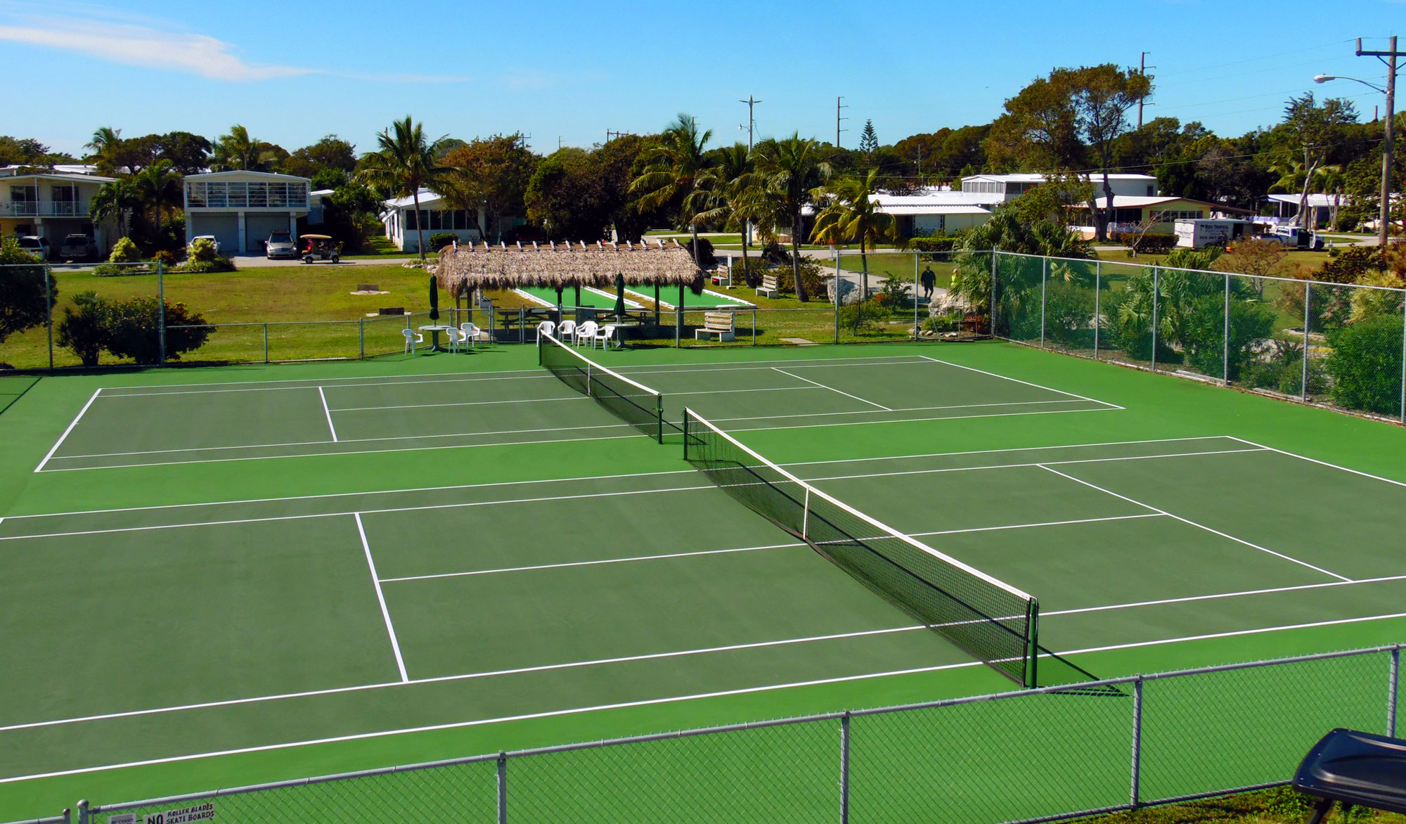 Tennis Courts in Key Largo 55 Plus Community